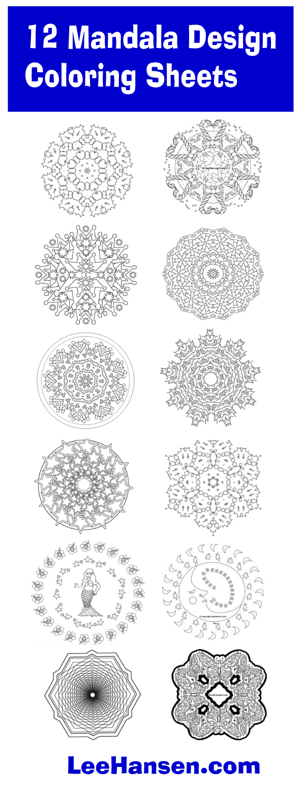 Pirntable mandala designs collection