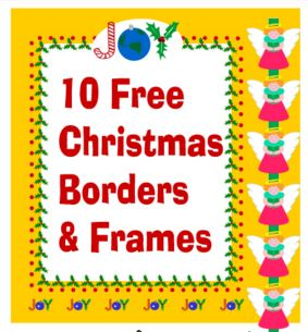 christmas borders clip art collection