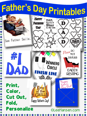Fathers day printables and craft gift activities