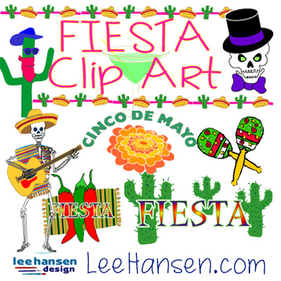 fiesta graphics cinco de mayo clip art and borders dia de los muertos