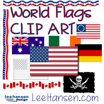 flags of the world clip art collection at LeeHansen.com