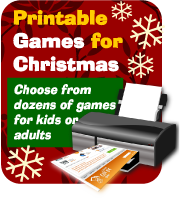 Print and play party games for Christmas, buy here