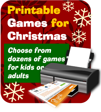 Printable Christmas party games by Print Games Now