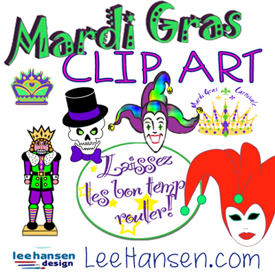 Mardi Gras Graphics Collection by LeeHansen.com
