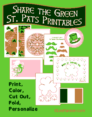 printable craft pages st patricks day theme