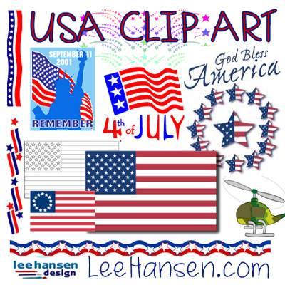 usa Patriotic clip art and border graphics