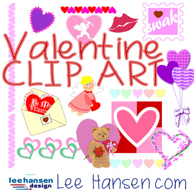 Valentine clip art for crafts and scrapbooking