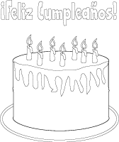 Feliz cumpleanos coloring craft template