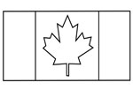 canada flag craft template
