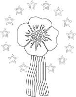 Remembrance poppy coloring sheet