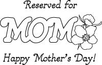 Mom placemat coloring craft