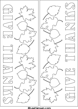 Give thanks printable template or coloring card