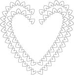 heart borders coloring page