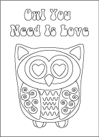 owl you need is love coloring card
