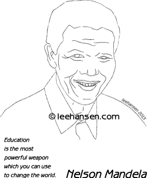Nelson Mandela Poster worksheet with quote