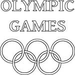 Olympic Games word art poster with rings