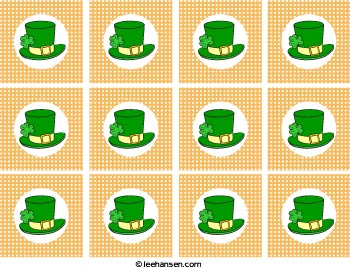 St. Patrick cupcake toppers sheet