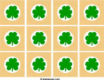 st patrick's day cupcake topper printable sheet