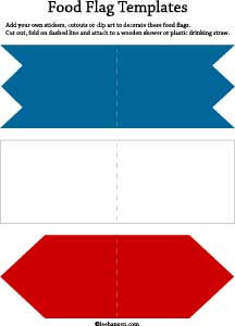 red white blue table flags