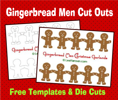 Gingerbread Man Garlands and Templates, LeeHansen.com
