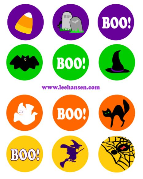 halloween sticker cupcake toppers