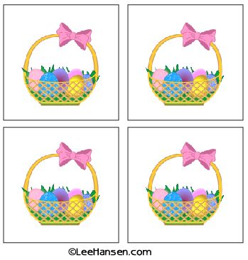 easter basket stickers or gift tags