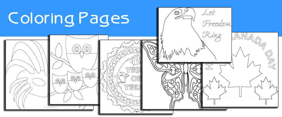 Printable coloring pages section