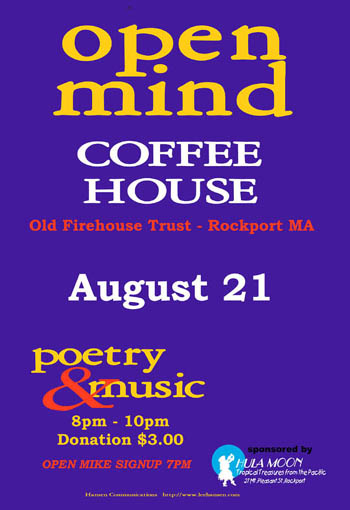 poster design, new age coffeehouse