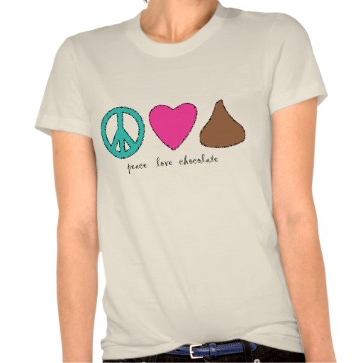 graphic tee shirt chocolate love  design