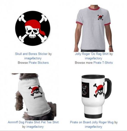 pirate design imprint graphics dorag skull and bones