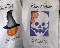 printed lunch bags trick or treat papercraft