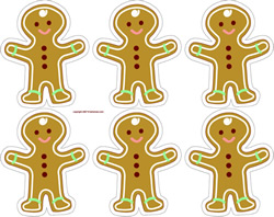 gingerbread ornaments or gift tags