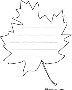 maple leaf shape paper activity sheet. Black Bedroom Furniture Sets. Home Design Ideas