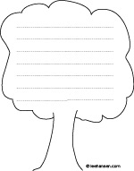 tree shape paper coloring activity