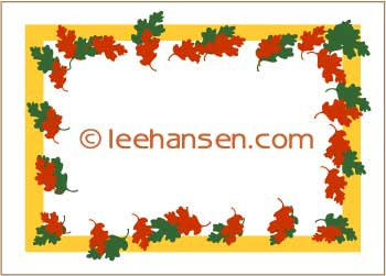 fall leaves sticker or name tag printable