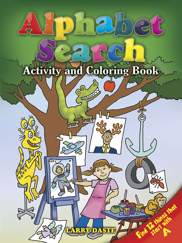 Alphabet search activity book coloring