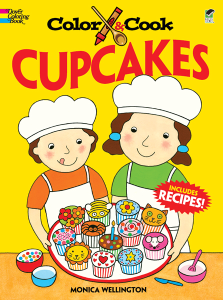 Cupcakes cook and coloring book for children