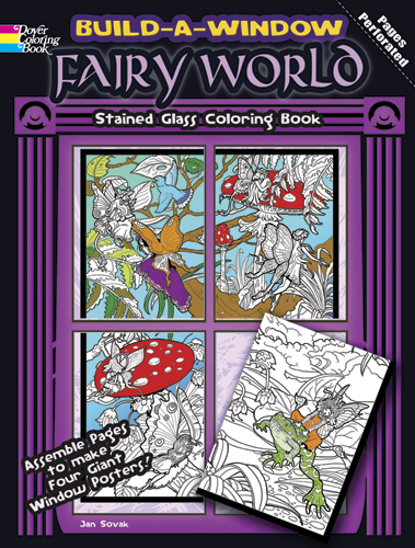 Fairy World build a window coloring poster book