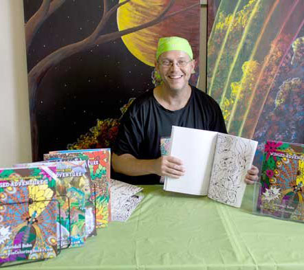 Kendall Bohn, artist and publisher of adult coloring books